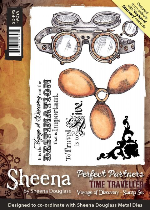 Sheena Douglass Perfect Partners Time Traveller - Voyage Of Discovery Stamp